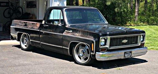 1973 Black Chevy C10 Pickup