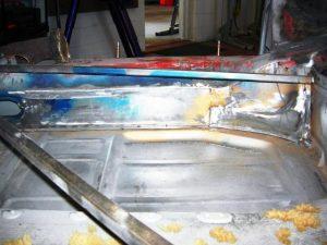Floor pan and inside rocker panel