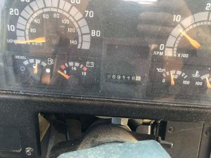 2002 Chevy 220HP Cat Diesel Bus dash
