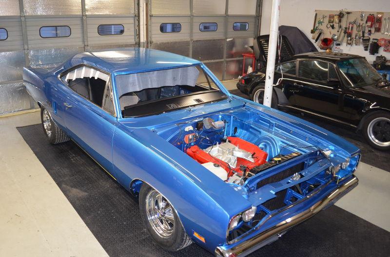 A 1970 GTX being restored