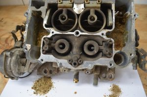 Dirty carburetor from ethanol gasoline use